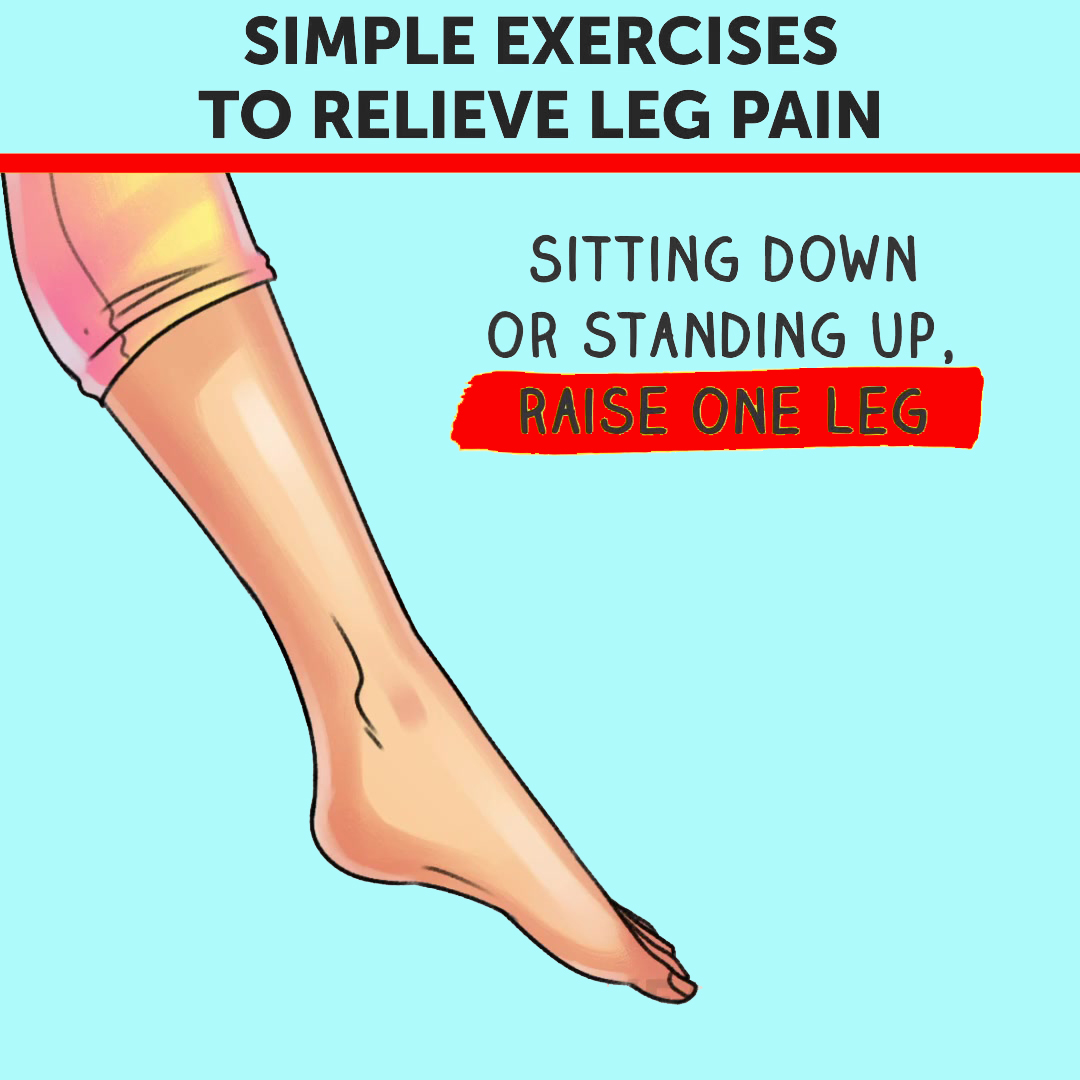 Simple Excercise To Relieve Leg Pain (Ankle Circles)