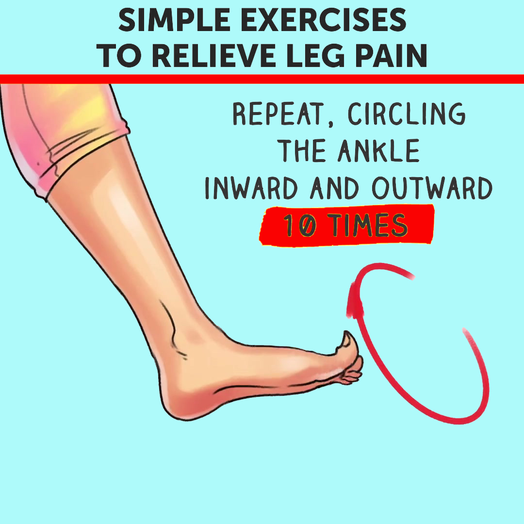Simple Exercise To Relieve Leg Pain (Ankle Circles)