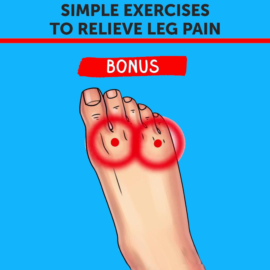 Simple Excercise To Relieve Leg Pain (Leg Bonus)