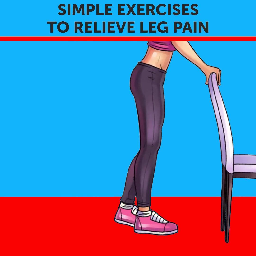 Simple Excercise To Relieve Leg Pain (Heel Raises)