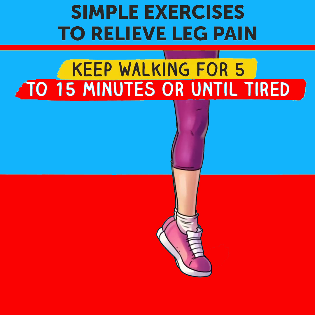 Simple Excercise To Relieve Leg Pain (Toe Walking)