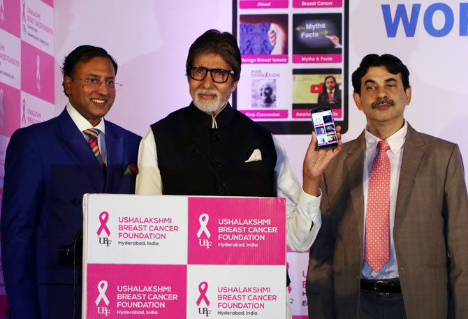 Amitabh Bachchan Launches a New App for Breast Cancer Awareness