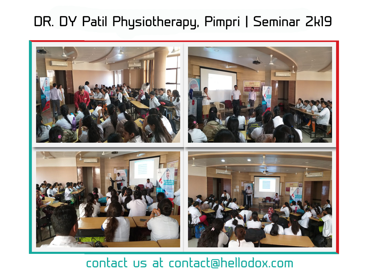 Health seminar at Dr. DY Patil College Of Physiotherapy, Pune.