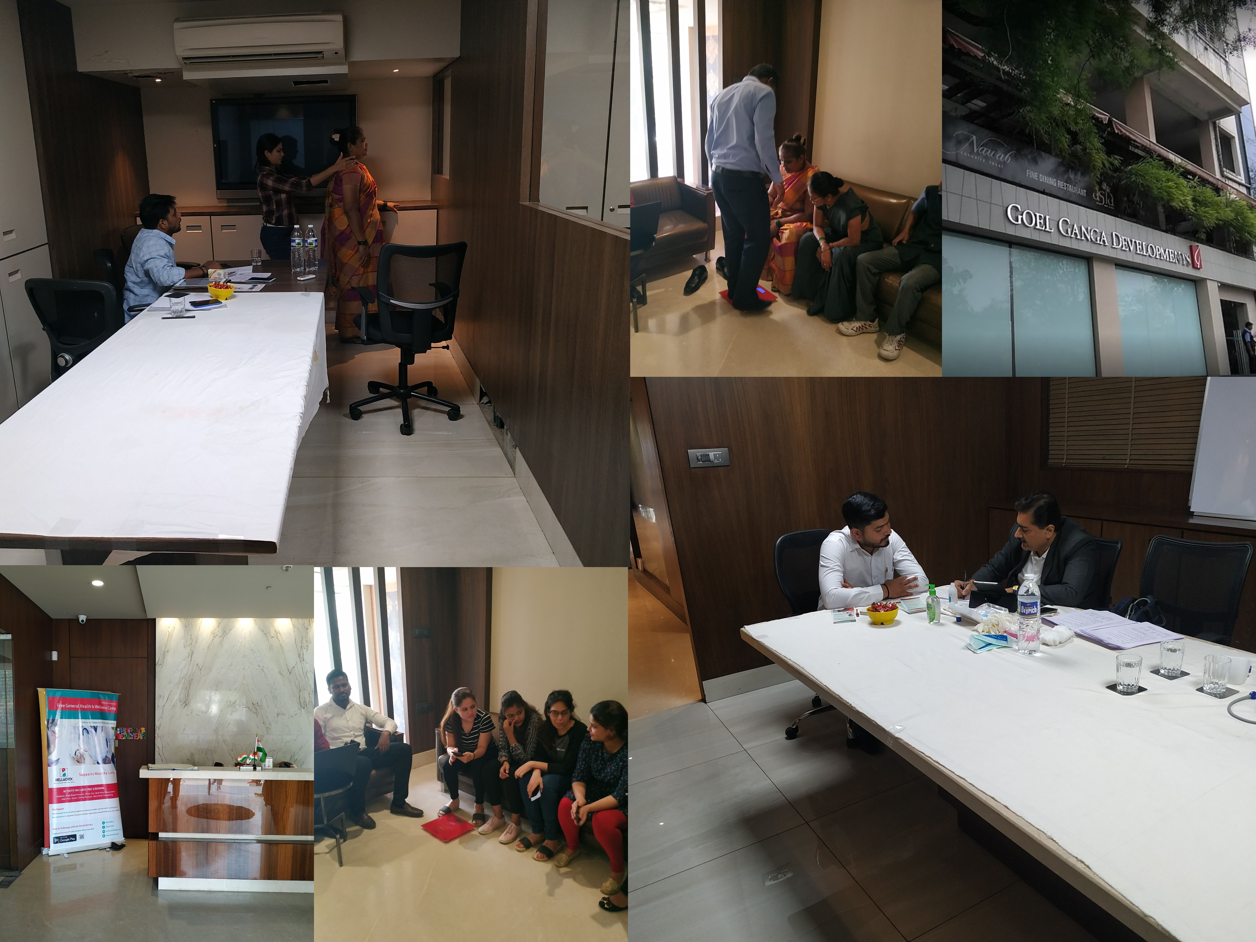 HelloDox Conducted Health Camp At Goel Ganga Developments - To Bring Awareness Among The Employees About Preventive Healthcare and Health Checkups
