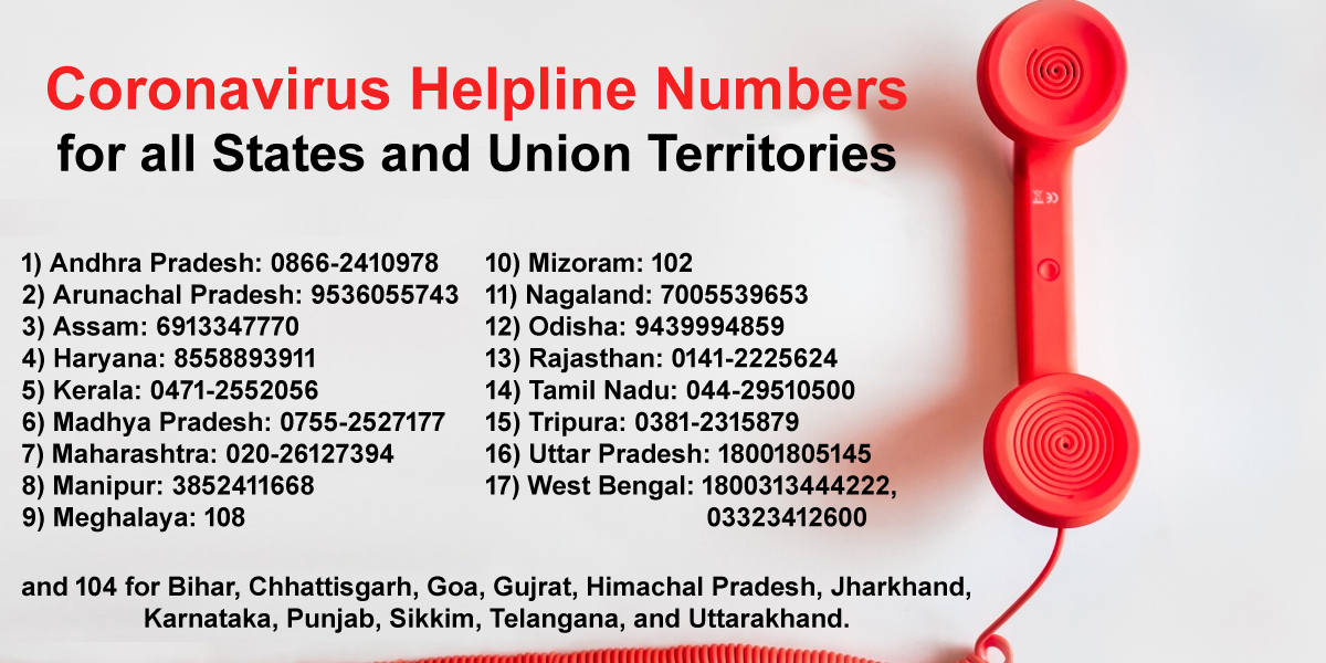 Coronavirus Helpline Numbers for all States and Union Territories